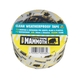 CLEAR WEATHERPROOF TAPE 50MM