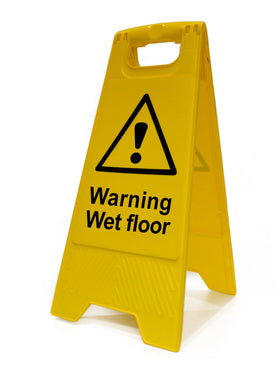 Heavy Duty A Board, Warning Wet Floor (620mm x 210mm)