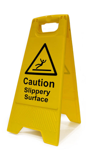 Heavy Duty A Board, Caution Slippery Surface (620mm x 210mm)