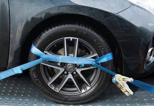 Car Transporter Tie-Down Set Alloy Wheel 3pce