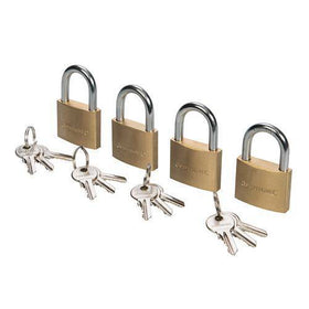 Brass Padlock Keyed Alike 4pk