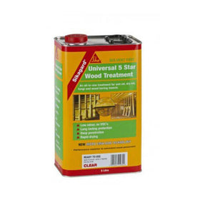 Sikagard Universal 5 Star Wood Treatment - All In One Treatment For Wet Rot, Dry Rot, Fungi and Wood Boring Insects