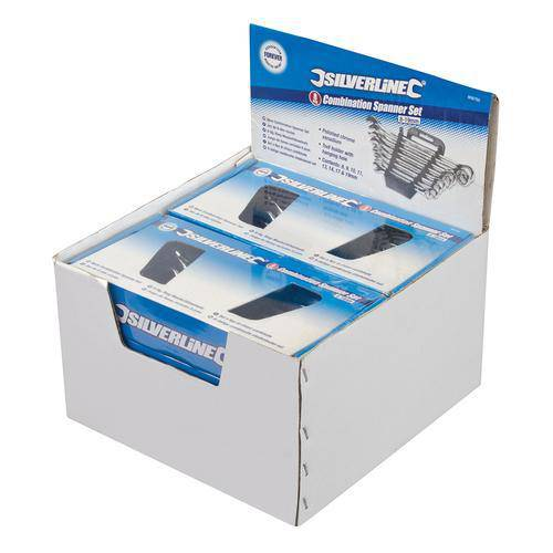8pce Combination Spanner Set Display Box
