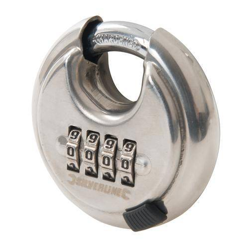 Stainless Steel Combination Disc Padlock 4-Digit