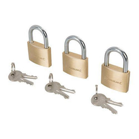 Brass Padlock Keyed to Differ 3pk