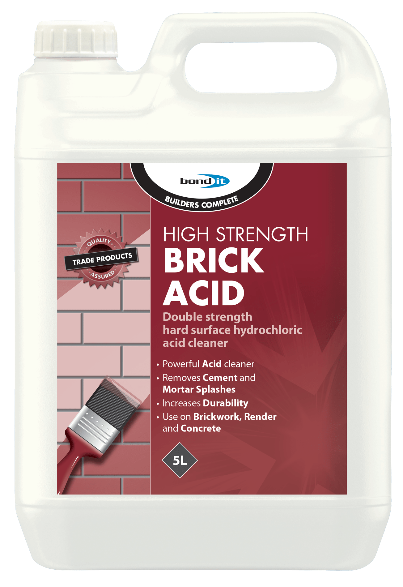 High Strength Brick & Patio Acid Cleaner - 5L