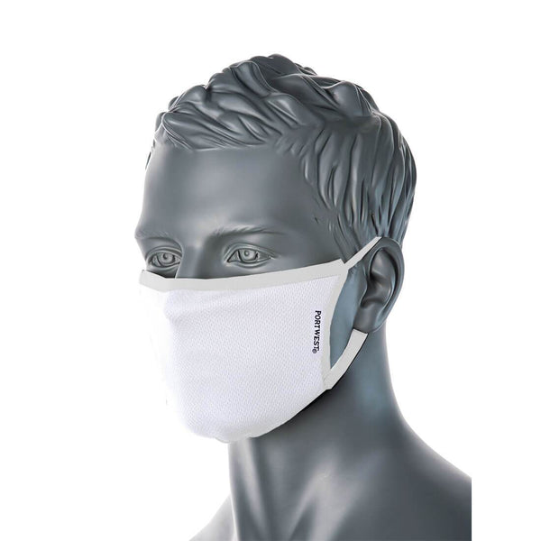 3-Ply Anti-Microbial Fabric Face Mask (Pk25)