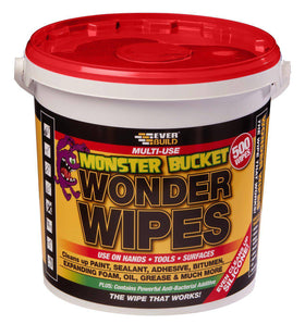 Everbuild Wonder Wipes Multi-Use Cleaning Wipes, Monster Tub