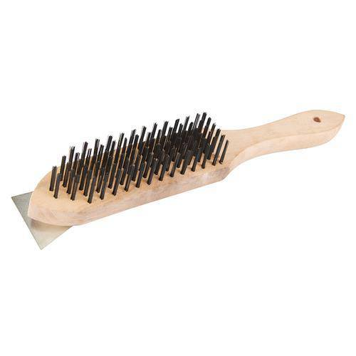 Wooden Wire Brush & Scraper