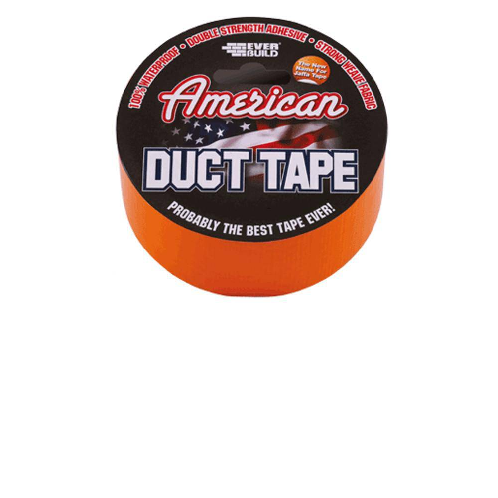 American Duct Tape (Silver or Orange) 50mm x 25m by Everbuild
