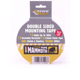 Double Sided Mounting Tape 25mm, Everbuild