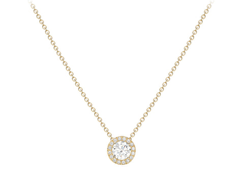 9ct Yellow Gold CZ 7.6mm Sliding Pendant Necklace 46cm/18""