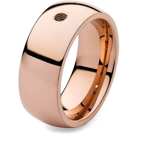Qudo Rose Gold Thick Ring Band