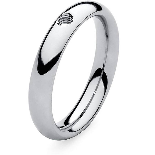 Qudo Stainless Steel Small Ring