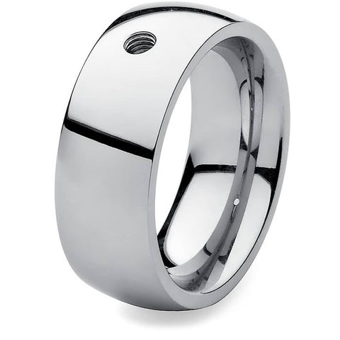 Qudo Stainless Steel Big Ring