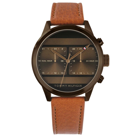 Tommy Hilfiger - Brown Leather Strap Watch 1791594
