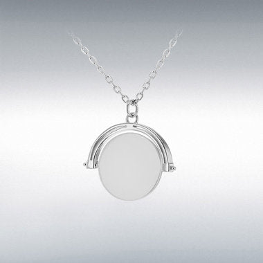 Sterling Silver Engravable Spinning Disc