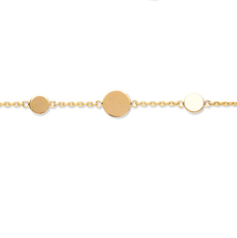 Gold Plated Adjustable Disc Bracelet