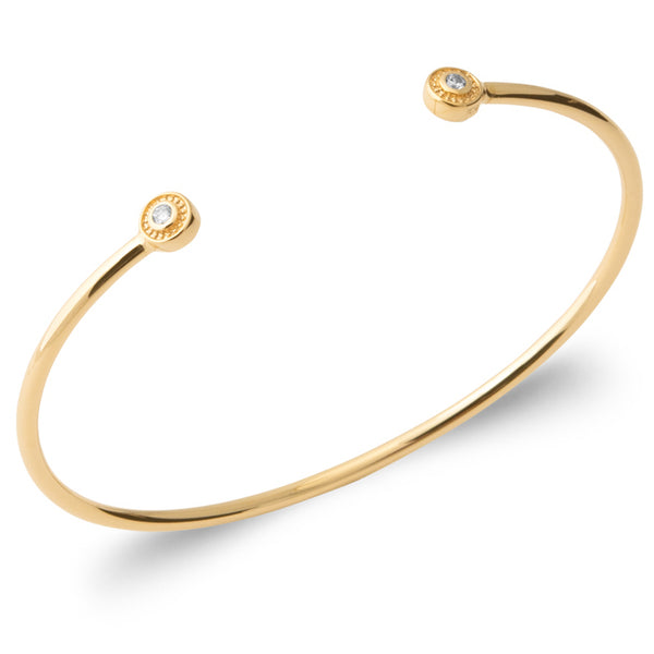 Burren JW Gold Plated Disc Bangle