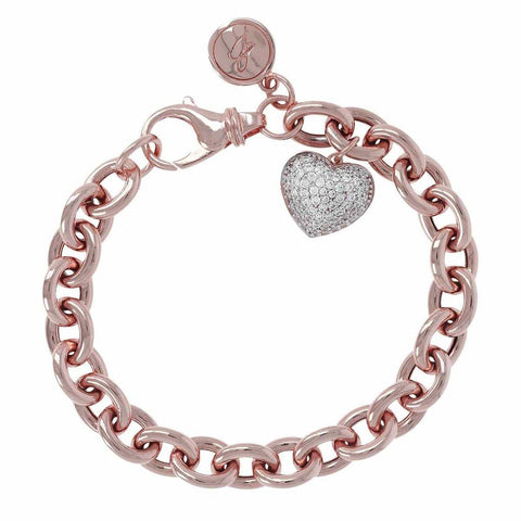 Sold Out  Bronzallure Heart Charm Bracelet  Code: WSBZ00770
