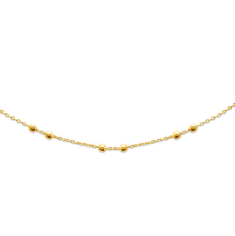 18k Gold Plated Ball Chain