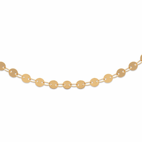 18k Gold Plated Disc Chain Necklet