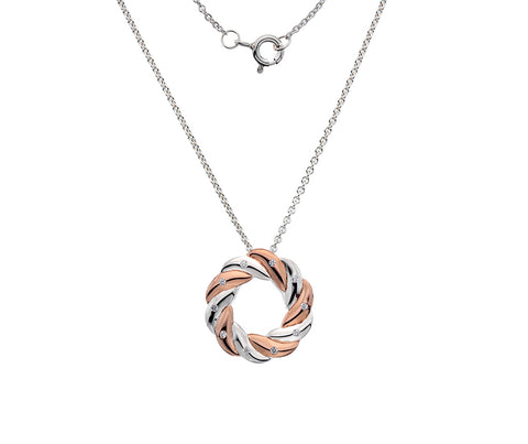 Silver and rose gold pendant