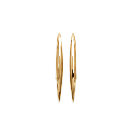 18k Gold Plated Contemporary Wire Earrings burren jw
