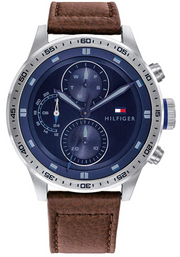 Tommy Hilfiger Men's Analogue Quartz Watch with Leather Calfskin Strap