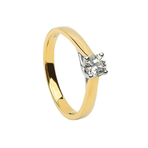 solitaire engagement ring twist diamond engagement ring