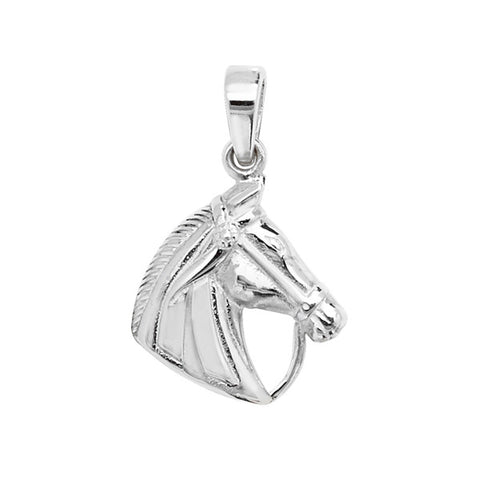 Sterling Silver Horses Head Pendant
