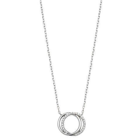 Silver Chain with interlinking Circles