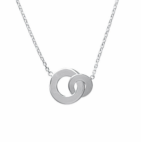 Two Circle Pendant Silver burren jw