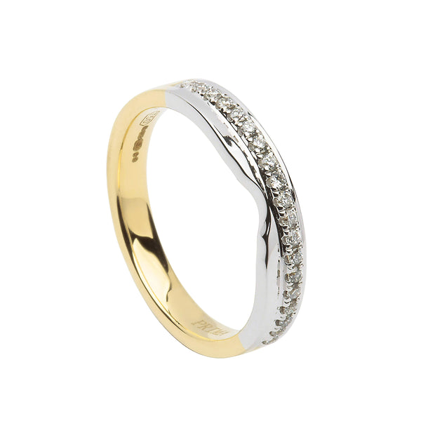 two toned diamond wedding ring