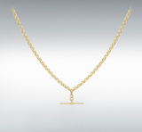 9ct Yellow Gold Belcher Chain Albert Clasp Necklace