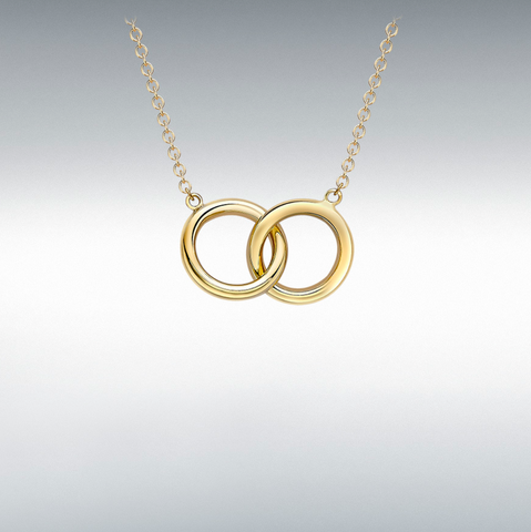 9ct Yellow Gold Linked-rings Adjustable Necklace