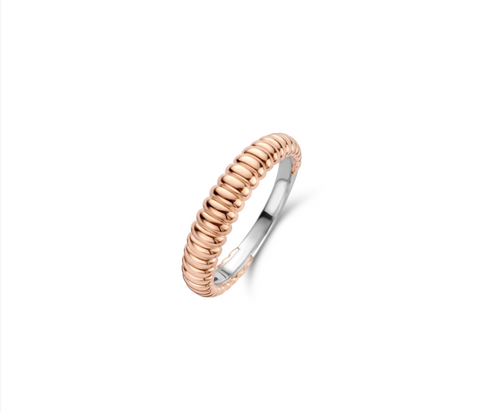 TI SENTO - Milano Rose Gold Plated Ring