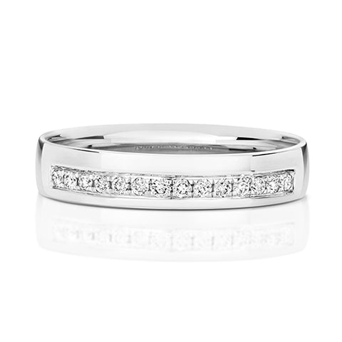 RD725W DIAMOND WEDDING RING GRAIN SET 4.0MM