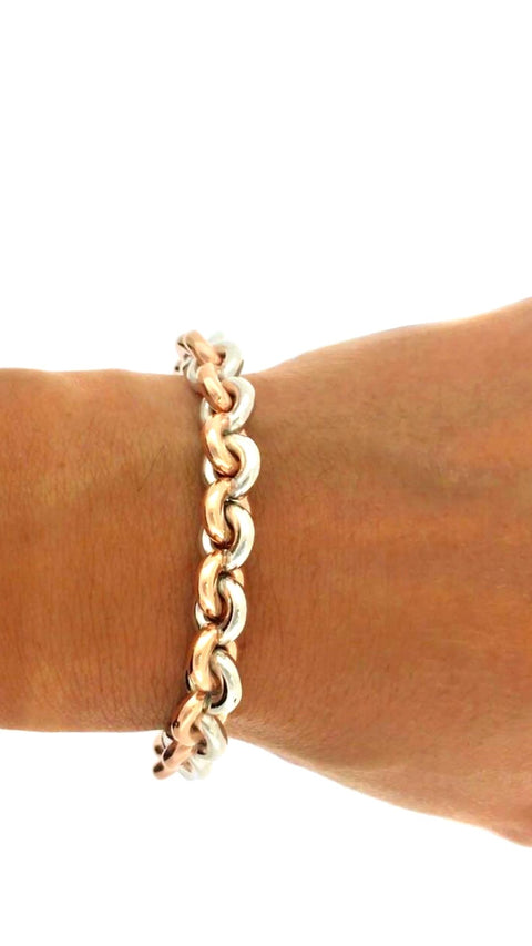 Barnes Jewellers Rose Gold and Silver Bracelet