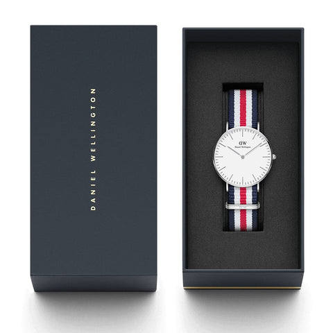 Classic Canterbury with Silver Case daniel wellington watches