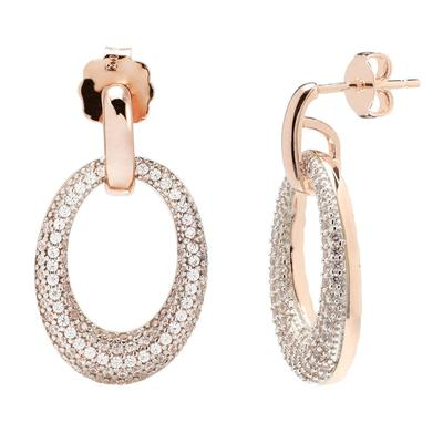 Bronzallue Rose Gold Drop Earrings