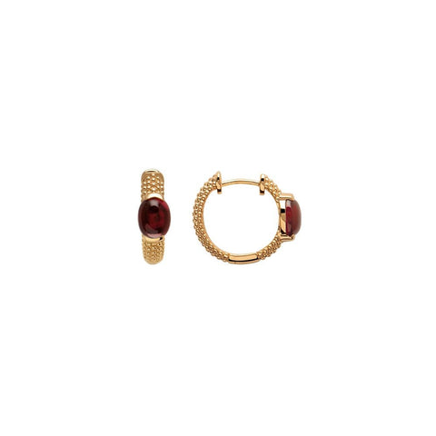 Burren jw 18k Gold Plated Ruby Beaded Earrings