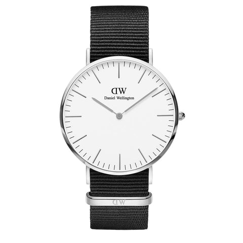 Classic Cornwall with White Dial and Silver Case