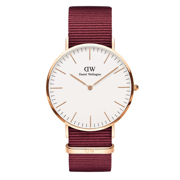 Classic Roselyn with White Dial and Rose Gold Case