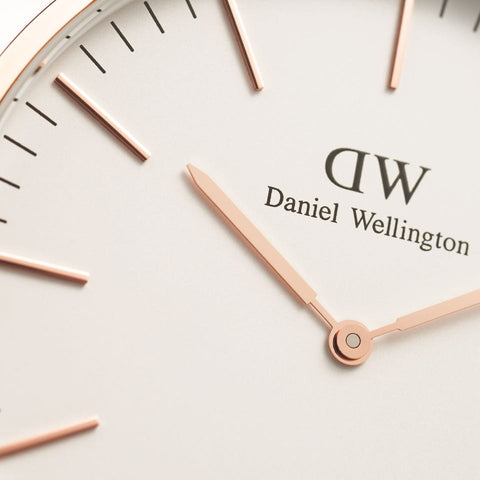 Classic Canterbury with Rose Gold Case daniel wellington watches