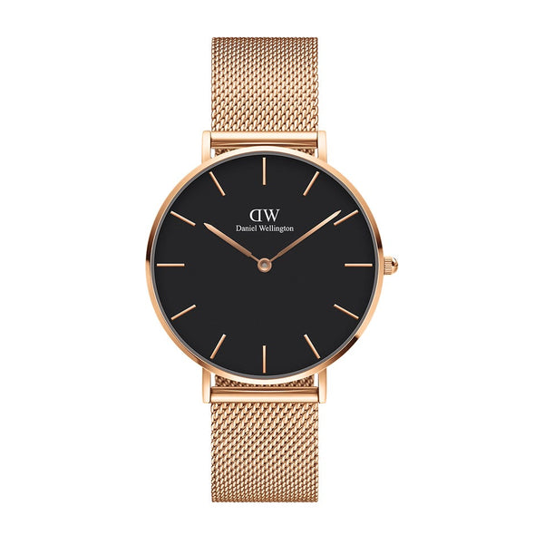 Classic Petit Melrose Watch with Black Dial