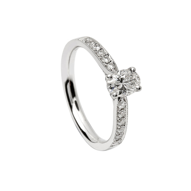 Solitaire Engagement Ring Oval