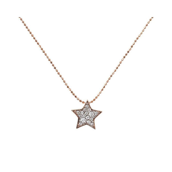 Bronzallure Rose Gold Star Necklace
