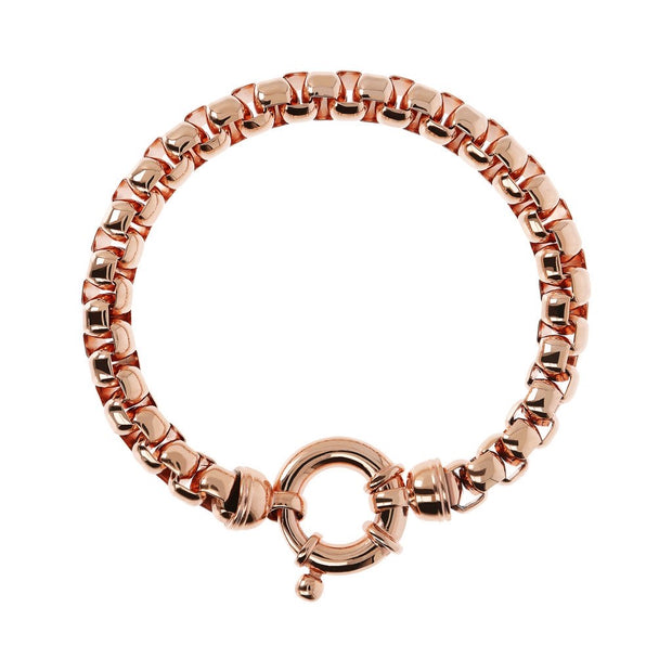 Rose Gold Box Link Bracelet