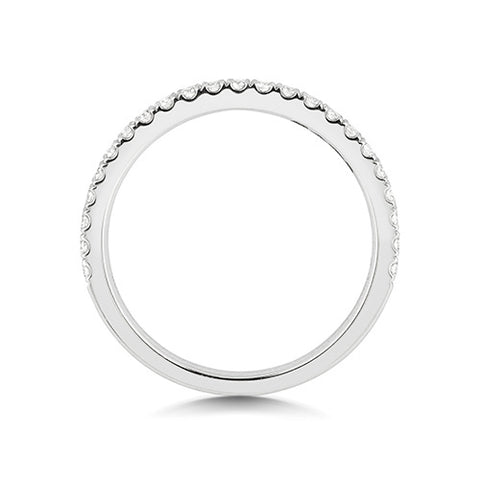 WP268 PLATDIAMOND HALF ETERNITY RING CUT DOWN SET 1.6MM G VS